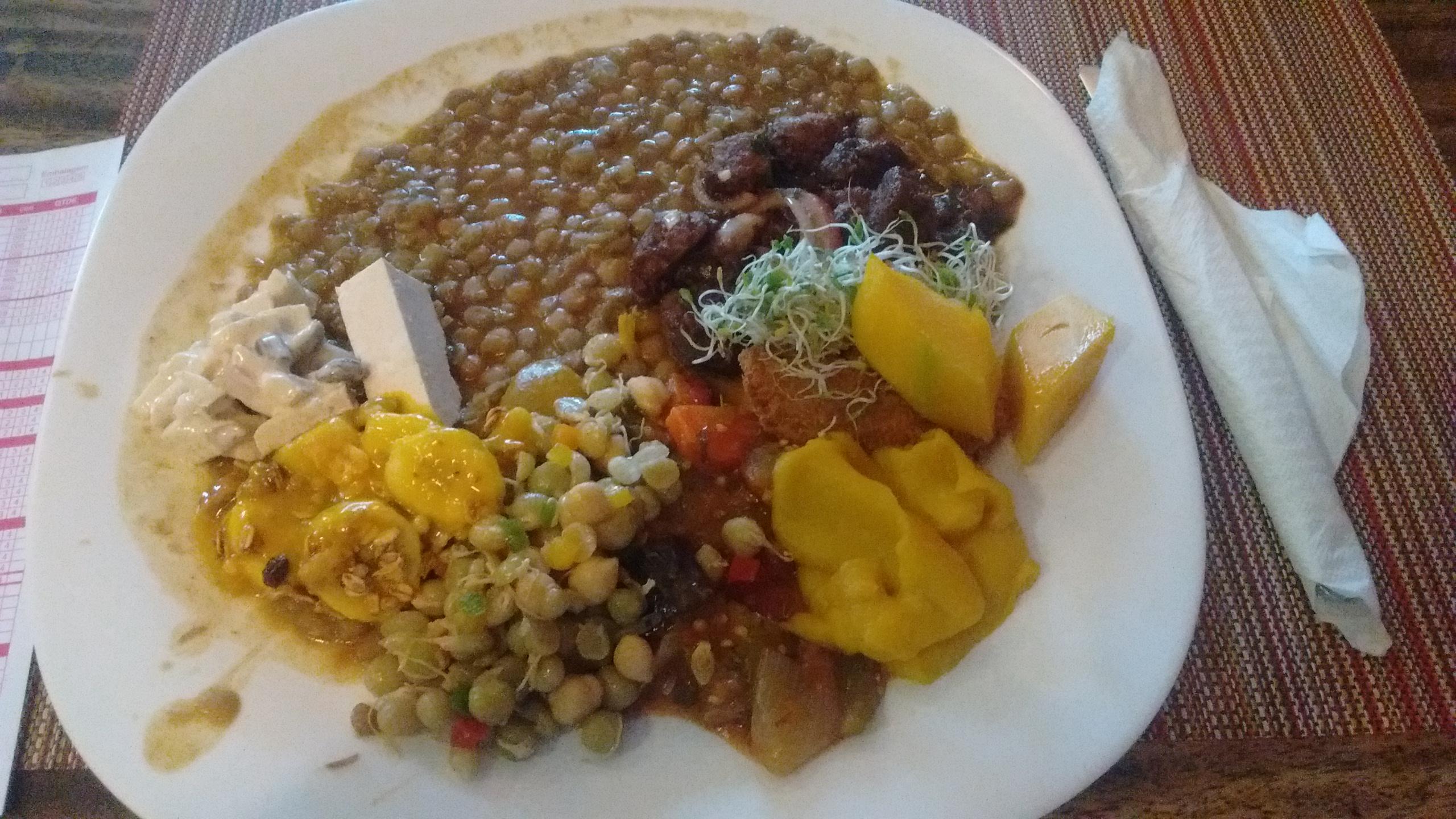 Por Kilo (Per Kg) Vegetarian Plate in Brazil