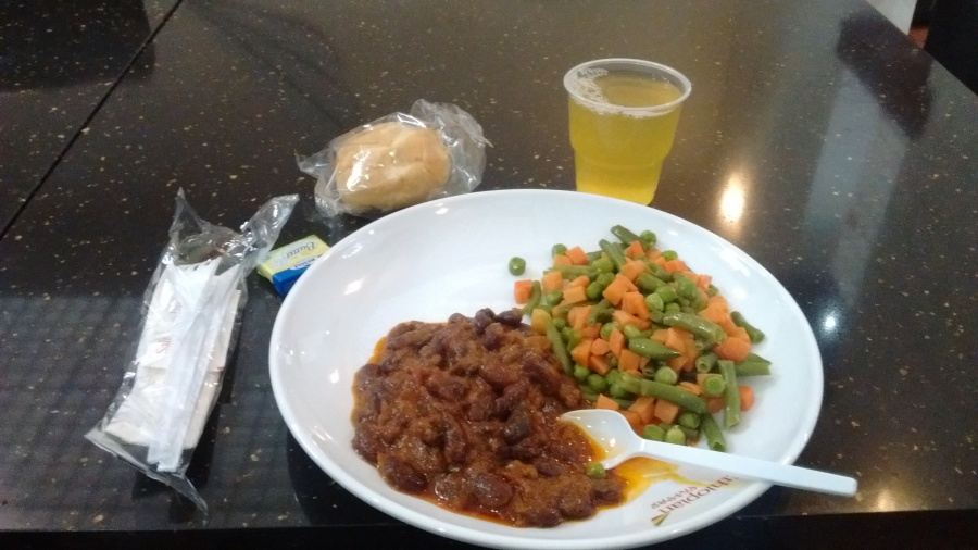 Vegetarian Meal provided at Ethiopian Airlines Lounge, Addis Ababa